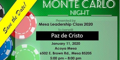 Mesa Leadership Monte Carlo Night for Paz De Cristo