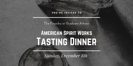 American Spirit Works Tasting Dinner at The Foundry