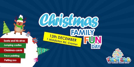 Christmas Family Fun Day @ Kids Club Northern Beaches! tickets