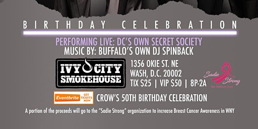 Crow's 50th Birthday Celebration - Private Event