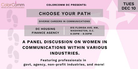 ColorCommDC Presents: Choose Your Path - Diverse Careers in Communications tickets