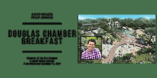 Douglas Chamber Breakfast with Philip Johnson, Tropical Lagoon Designer