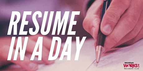 Resume in a Day tickets