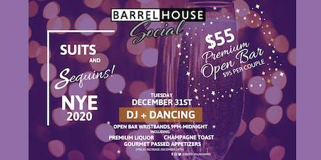 NYE 2020 Premium Open Bar + DJ and Dancing tickets