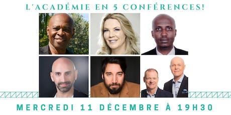 Soirée de 5 conférences de L'ART DE LA CONFÉRENCE tickets