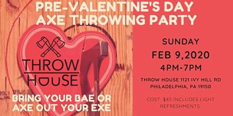 Pre-Valentine's Day Axe Throwing Party tickets