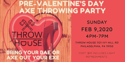 Pre-Valentine's Day Axe Throwing Party
