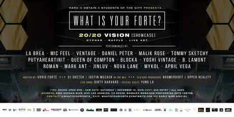 What Is Your Forté? [20/20 Vision] ft. Special Guests & Live Performances! tickets