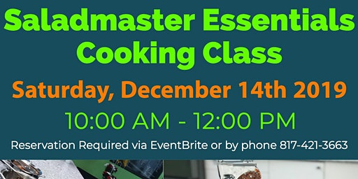 Saladmaster Essentials - Owners Only Cooking Class