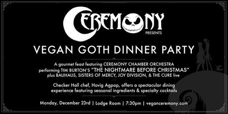 """Vegan Goth """"Nightmare Before Christmas"""" Dinner Party tickets"""