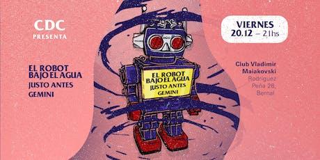 CDC presenta: El Robot Bajo el Agua en Quilmes entradas