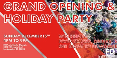 Los Angeles Photographers & Models Holiday Mixer + GRAND OPENING!