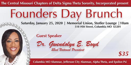 Central MO Chapters of Delta Sigma Theta Sorority, Inc. Founders Day Brunch