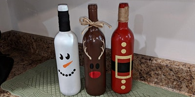 Wine Bottle Craft for the Holidays