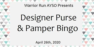 Warrior Run AYSO Designer Purse & Pamper Bingo