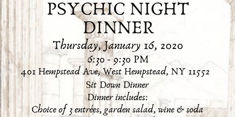 Psychic Night Dinner @ Pompei tickets