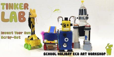 Tinker Lab - Invent Your Own Scrap-Bot : Children's Eco-Art Workshop tickets