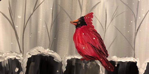 Cardinal Painting at the Winery