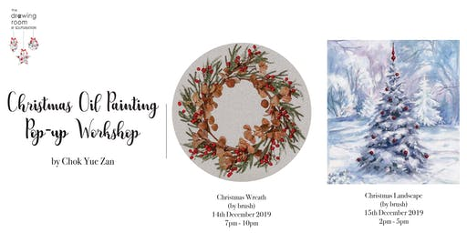 Christmas Oil Painting Pop-up Workshop by Zan (in round canvas)