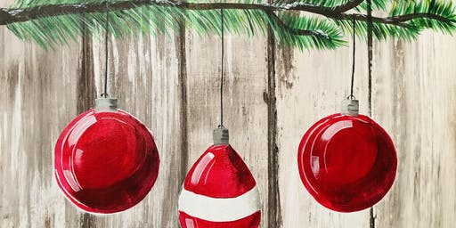 Paint Day at Ironhand Winery: Christmas Ornaments