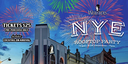 Rooftop New Years Eve Party at Websters Bar
