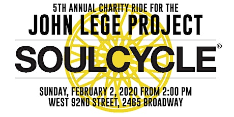 5th Annual SoulCycle Ride for The John Lege Project tickets
