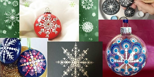 Paint Snowflake Mandala Ornaments