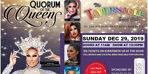 Quorum of the Queens Drag Brunch - Dec. 29, 2019