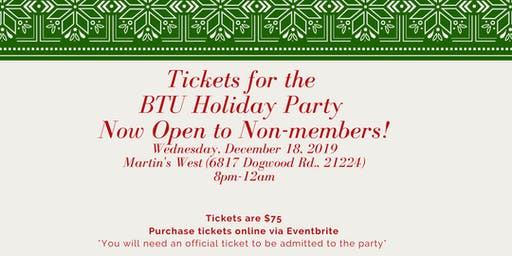 BTU Annual Holiday Party