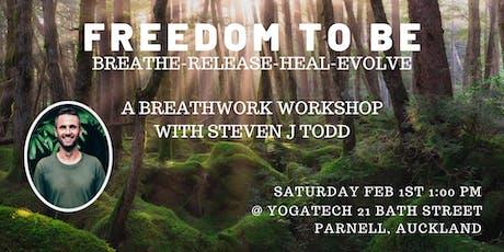 Freedom To Be. Breathwork Workshop tickets
