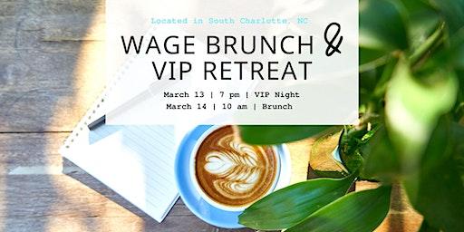 WAGE Brunch & Retreat