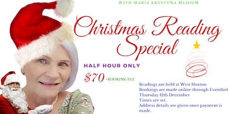 Christmas Reading Special $70 - Thursday 12th December tickets
