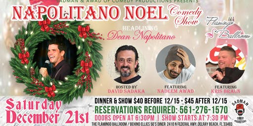 Comedy Show/Buffet Napolitano Noel Flamingo Room