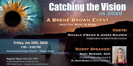 Catching the Vision in 2020: Featuring Brené Brown's BRAVING tickets