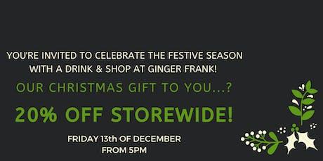 Ginger Frank's Christmas Celebration! tickets