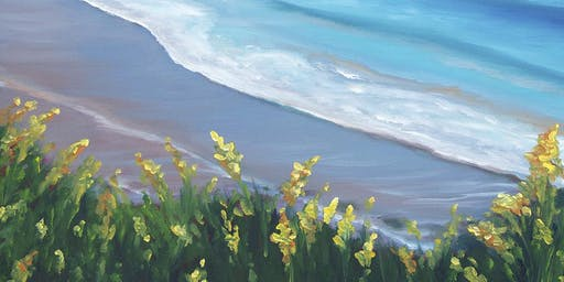 "Paint & Wine Night ""Wildflower Beach"""