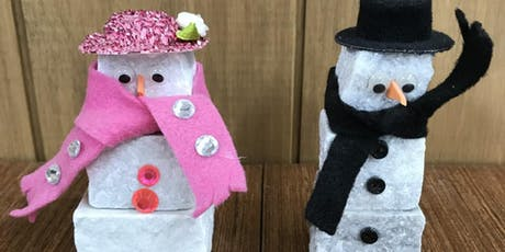 Kids Special $15 - Adopt a Snowman Stone and Pallet(TM) by Recycled Granite tickets
