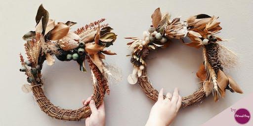 Dried Wreath Christmas Workshop