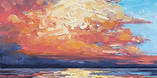 """Paint & Tea Sunday """"Cotton Candy Cloudscape"""""""