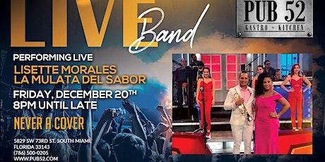 Lisett Morales La Mulata del Sabor! Don't Miss Out! Dec 20th tickets