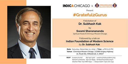 """INDICA Chicago Presents a Talk on """"Indian Foundation of Modern Science"""""""
