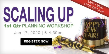 1st Quarter Scaling Up Planning Workshop: Strategy tickets