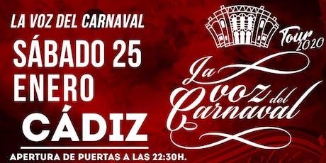 La voz del Carnaval - Sábado 25 de enero de 2019 entradas