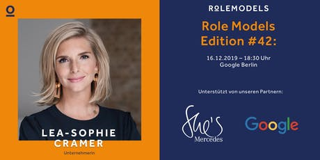 Role Models – Edition #42: Lea-Sophie Cramer Tickets
