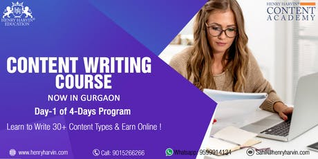 Day 1 Content Writing Course in Gurgaon tickets