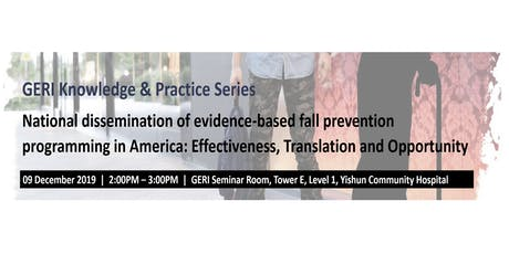 National dissemination of evidence-based fall prevention program in the US tickets