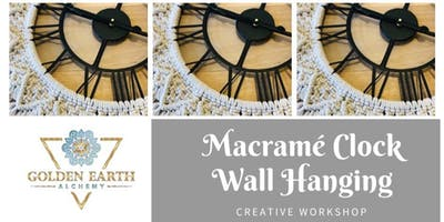 Macramé Clock Wall Hangings Workshop