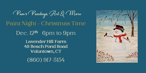 Paint Night on the Farm - Christmas Time