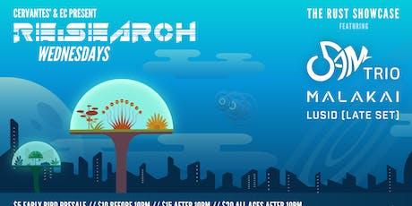 RE:Search ft. 5AM Trio, MALAKAI, Lusid (The Rust Showcase) tickets