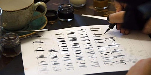 Modern Calligraphy Workshop at Yorkshire Ales, Snaith.
